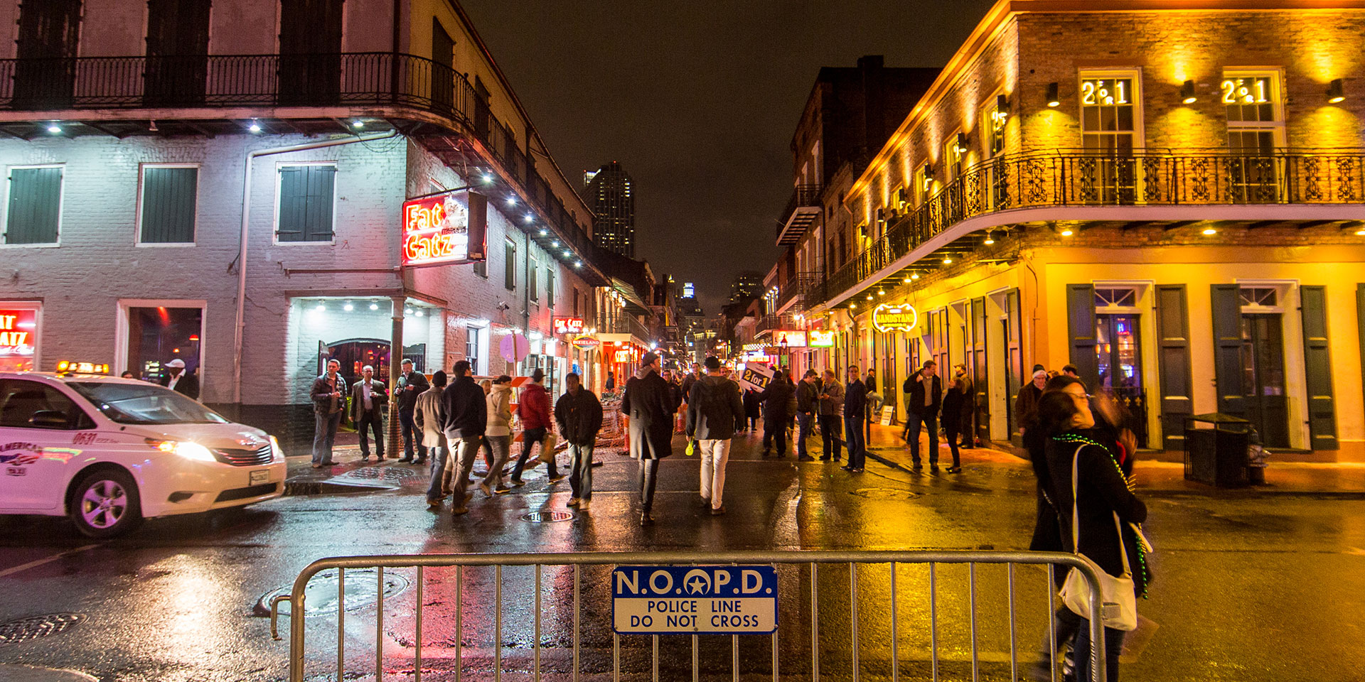 Find local favorites in New Orleans' Bourbon Street.