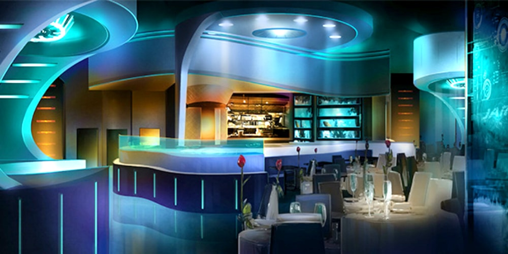 Tony's Skydeck will be the Marvel zone's fine dining restaurant. (Image courtesy of IMG World Adventure)