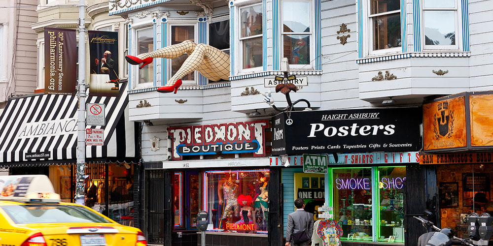 San Francisco bucket list: Shopping in Haight Ashbury.
