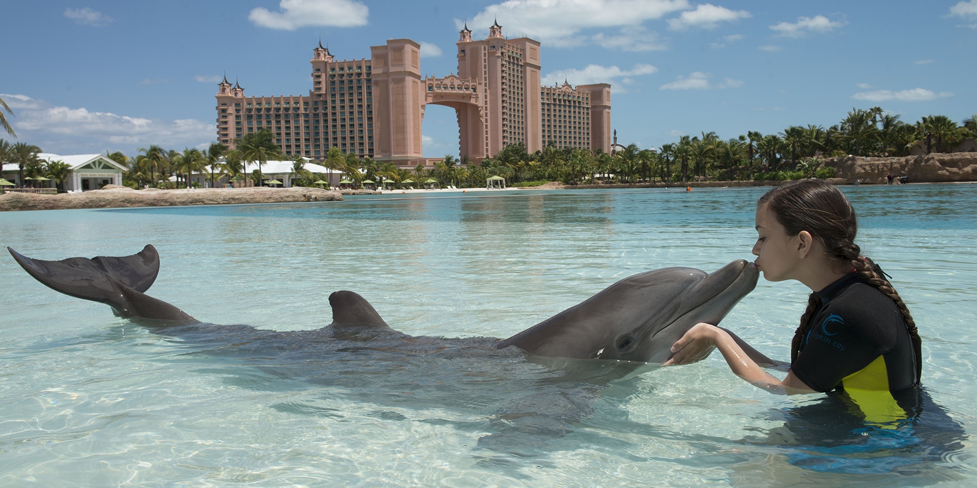 Kiss A Dolphin Or Just Enjoy The Picturesque Beaches At Atlantis Resort In Bahamas Photo Marriott International