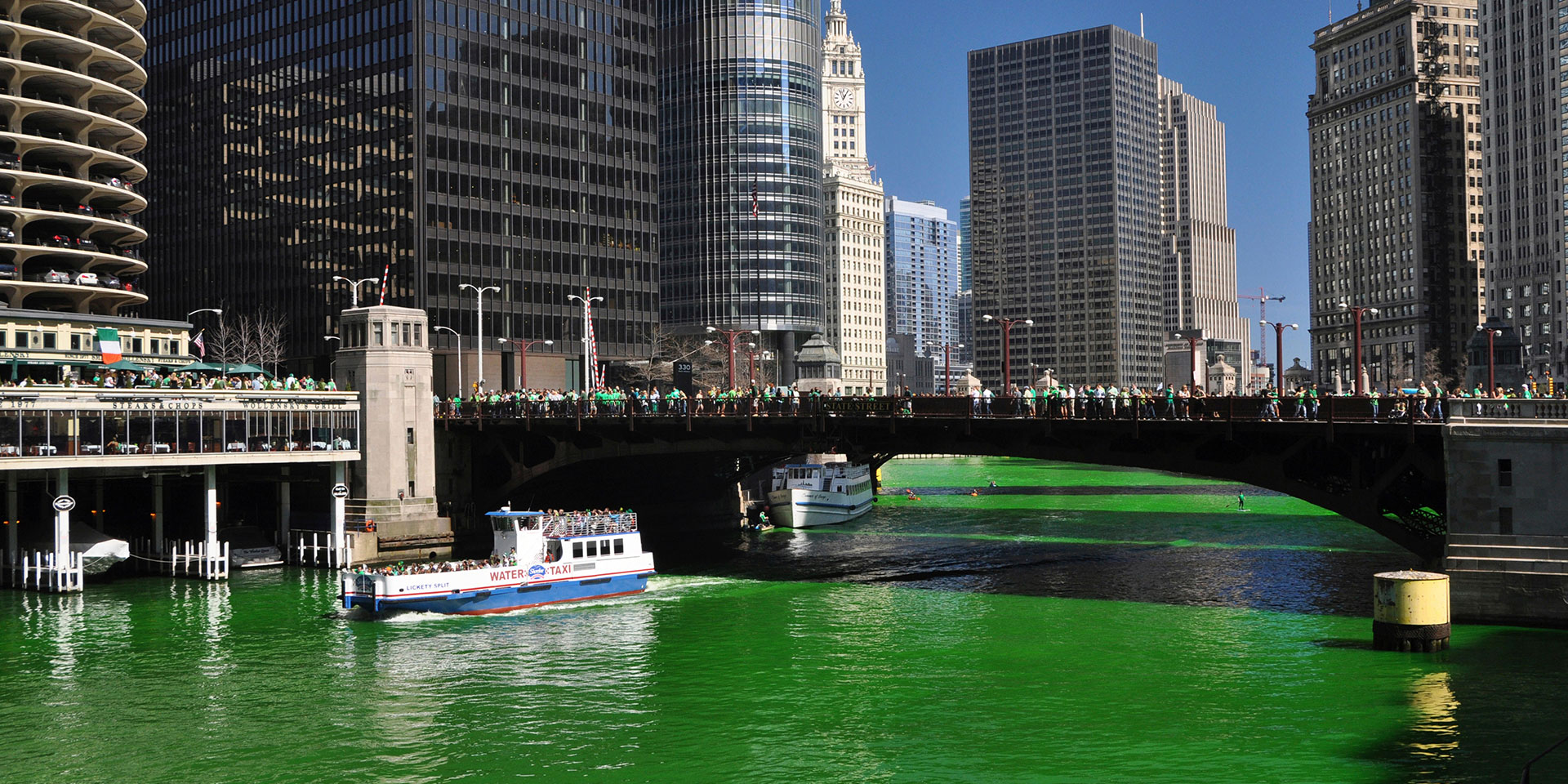 michigan avenue chicago river green